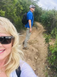 Melissa and Michael Hiking